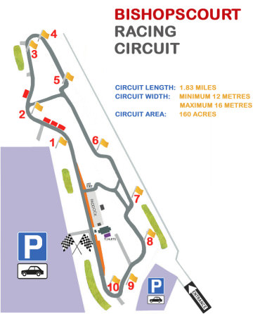 bishopscourt racing circuit map