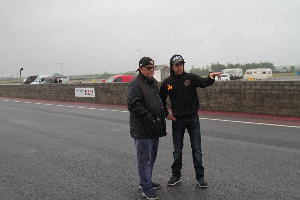 Roy Biggerstaff talking to Gino Rea about the circuit.
